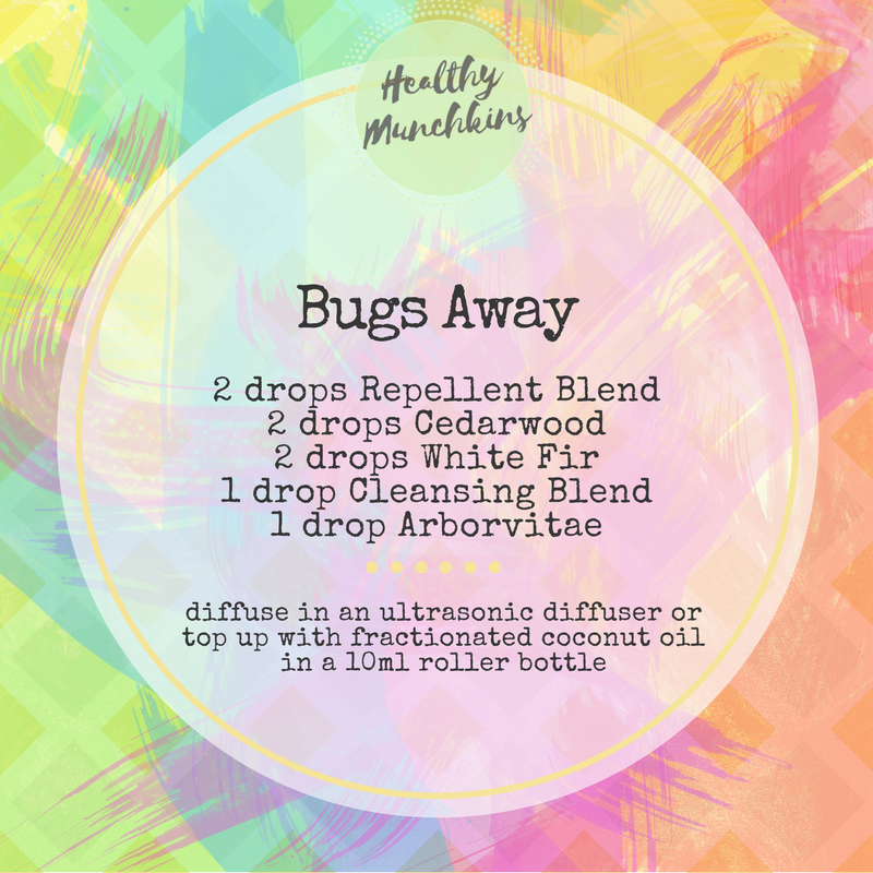 Diffuser blend - bugs away - healthy munchkins