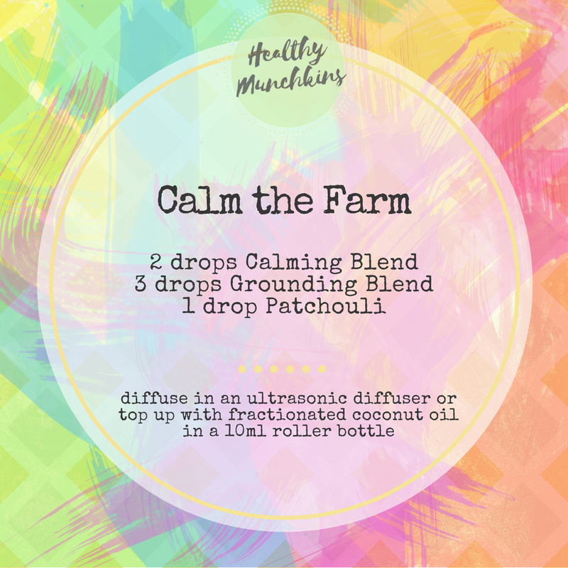 Diffuser blend - calm the farm - healthy munchkins