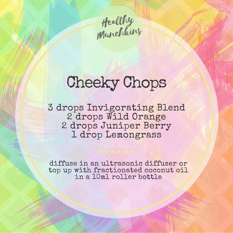 Diffuser blend - cheeky chops - healthy munchkins