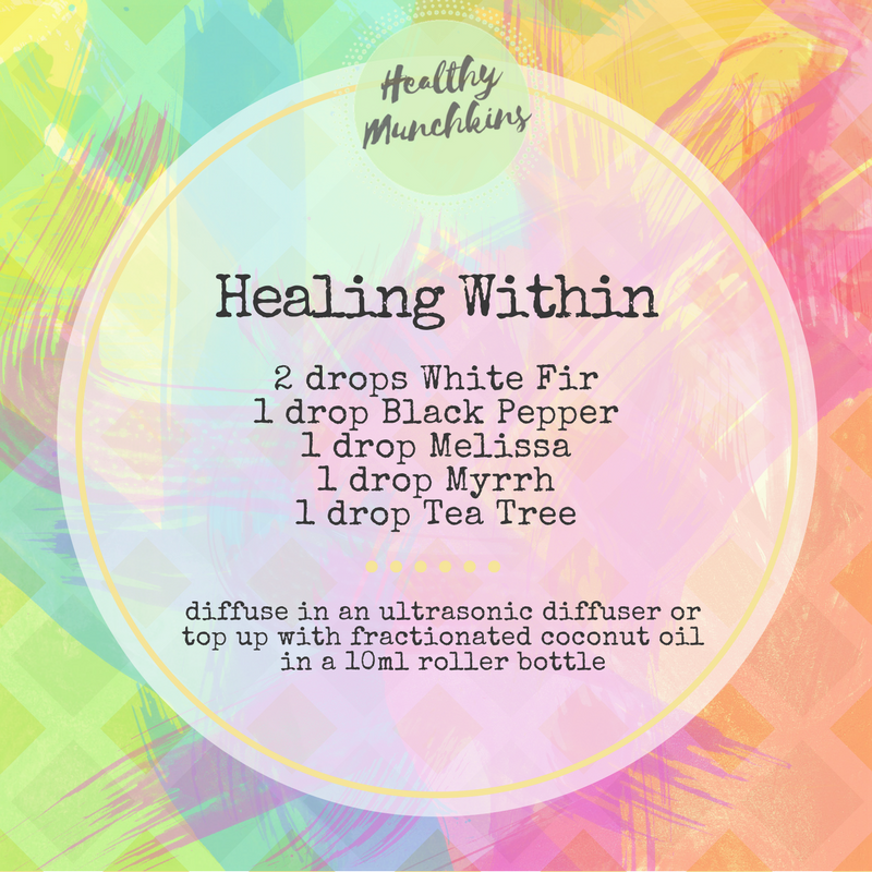 Diffuser blend - healing within - healthy munchkins