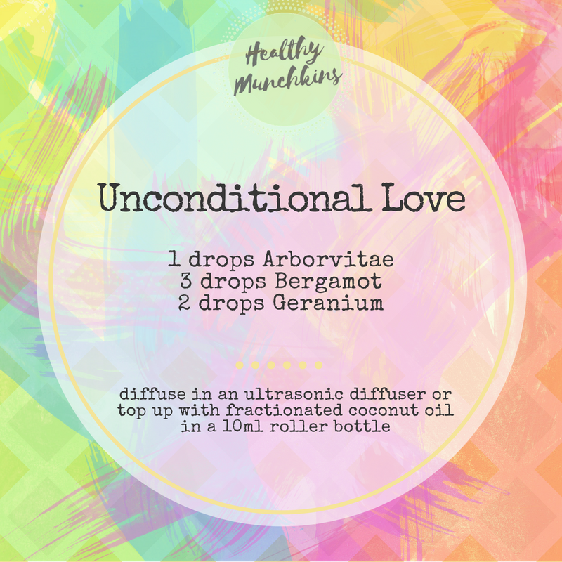 Diffuser blend - unconditional love - healthy munchkins