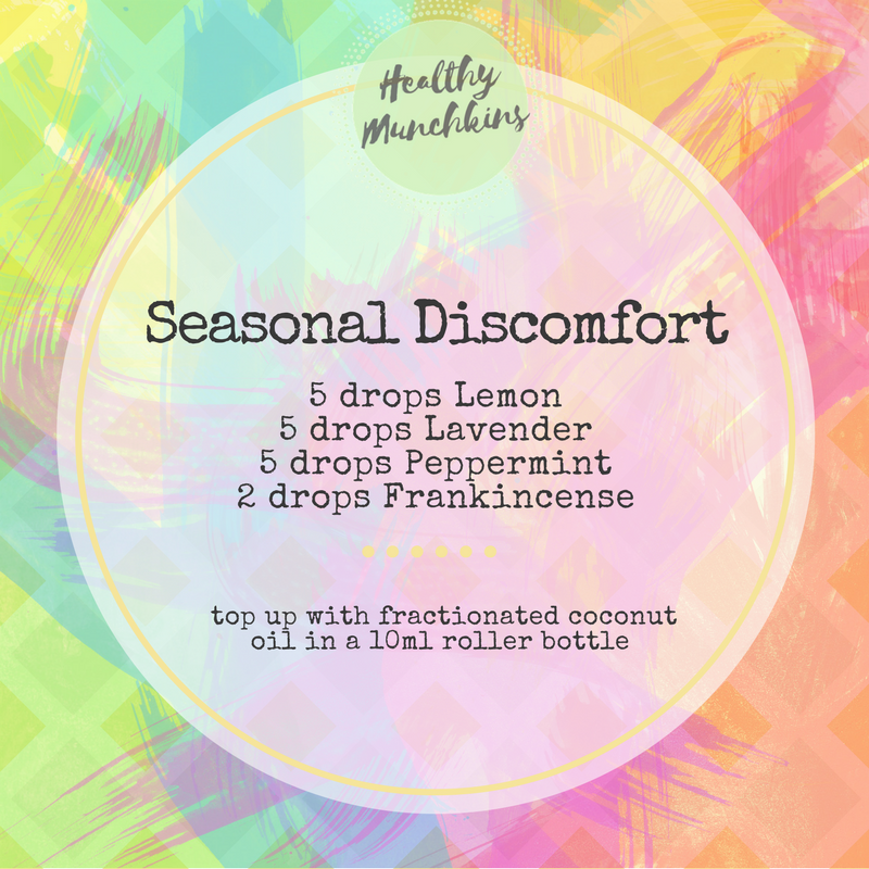 Topical blend - seasonal discomfort - healthy munchkins